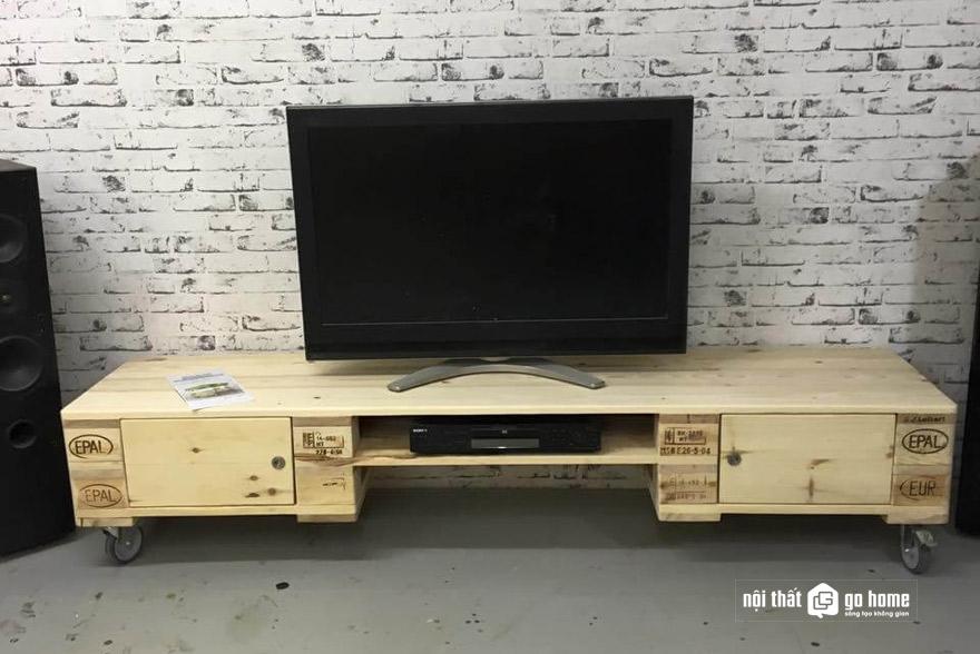 Kệ tivi gỗ palet là gì?
