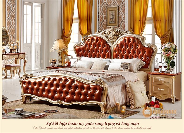 Giường ngủ phong cách cổ điển Pháp SCS0311