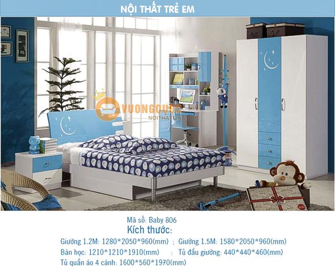 Thiết kế nội thất bé trai theo phong cách Hàn Quốc