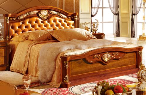 Giường gỗ cổ điển cao cấp