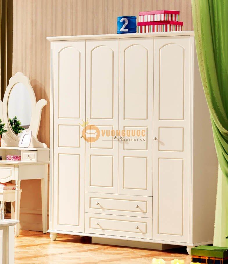 Tủ quần áo trẻ em bằng gỗ tự nhiên LSL809Q