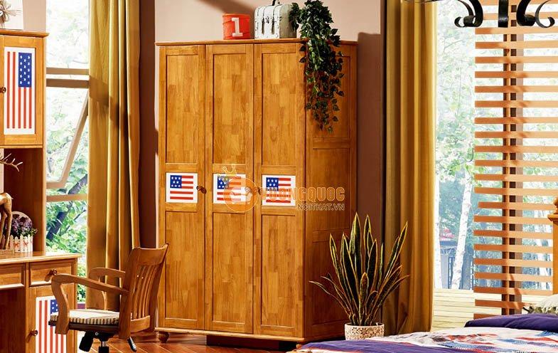 Tủ quần áo trẻ em màu gỗ tự nhiên LSL202Q
