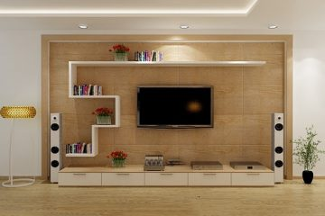 Kệ tivi phòng khách thiết kế dạng treo
