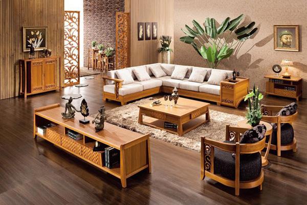 Kích thước sofa gỗ chữ L