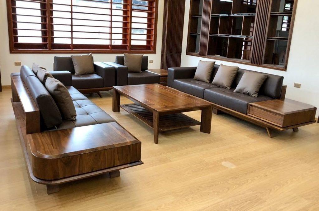 Kích thước sofa gỗ chữ U